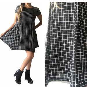 Silence+Noise Witchy Tee Checkered Dress